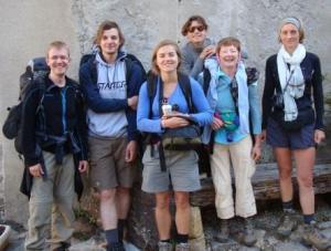 The family left to right: Karsten, Max, Felcia, Sophie, Jocelyn, Francine